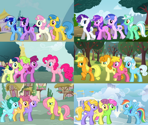 Mane 6 and friends by ABEaly2