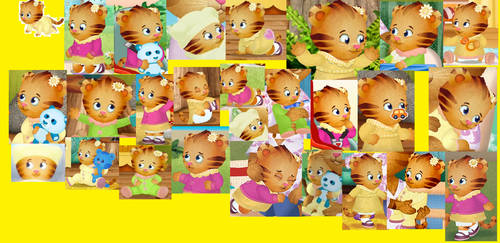 baby Margaret tiger collage by ABEaly2