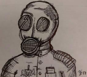 Gas Mask Guy by PartTimeDoodler