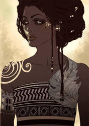 African Girl Saina Six by Saina6