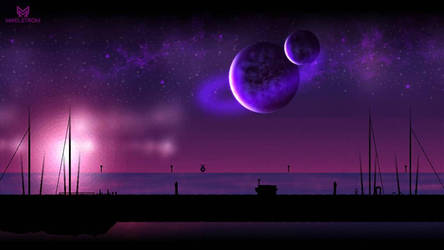Space Beach by Maelstromss