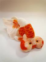 Felt goldfish16 by demetyoubi
