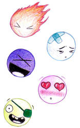 Smiley Doodles by Bethybops