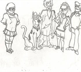Scooby Doo sketch by snike-parkour