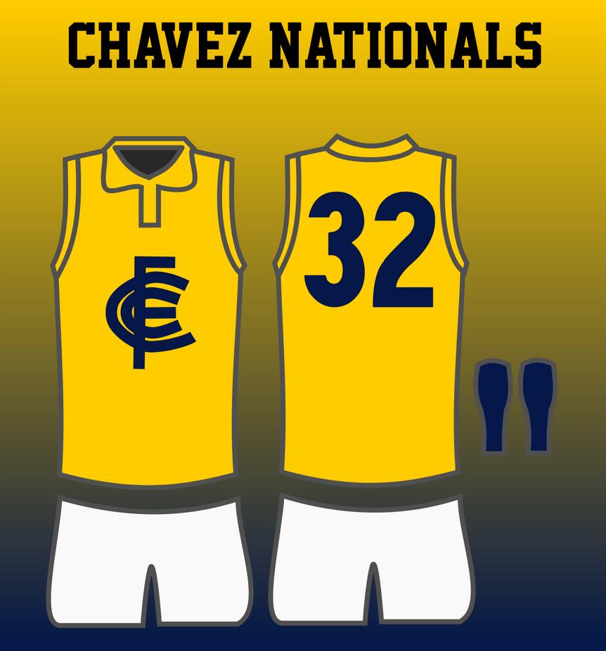 Chavez Nationals 1948 Away Jumper by TGArtworks