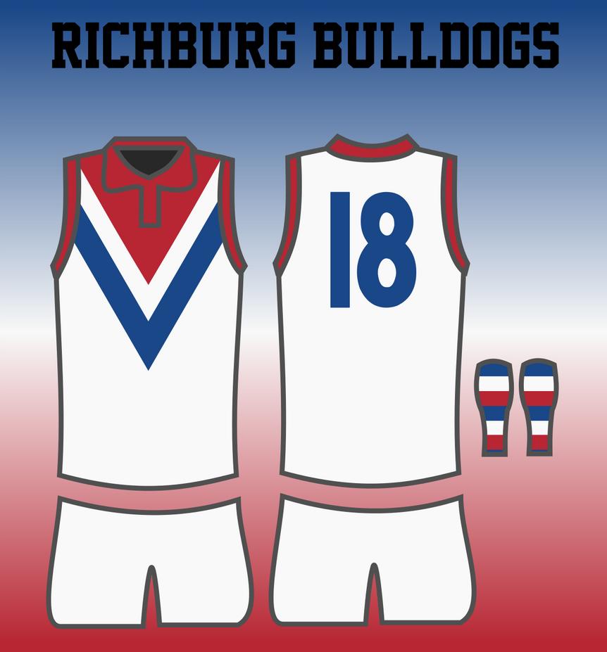 Richburg Bulldogs 1948 Away Jumper by TGArtworks
