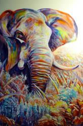 Elephant #9 by ArtbyjoelK
