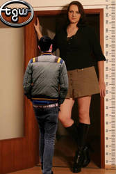 Caroline Welz 206cm+12 6ft9+5in and me by zaratustraelsabio