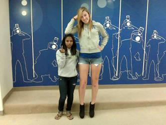 My 6ft sister in 5in heels next to her 4ft11 frien by zaratustraelsabio