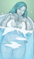 Bathing Pinup by Kallsu