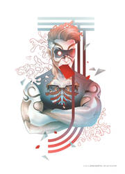 Cybernetic Red Joker by papercaptain