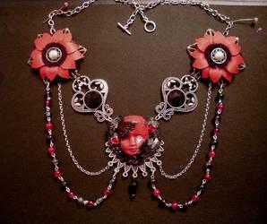 fairy goth necklace by midnightbreath
