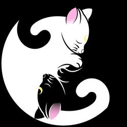 Luna and  Artemis Yin Yang Symbol by SayurixSama