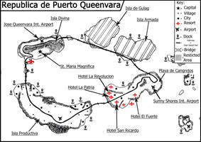 Map of the Republica de Puerto Queenvara by LaPrezCheQueenvara
