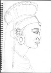 Princess of the Igen tribe(wip) by angelface888