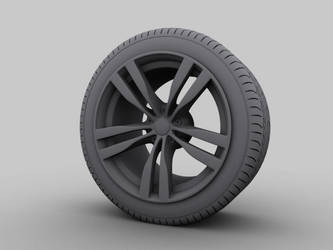 wheels with tire - clay by mucsiattila