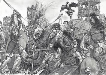Siege of Alesia by Saint-Jan