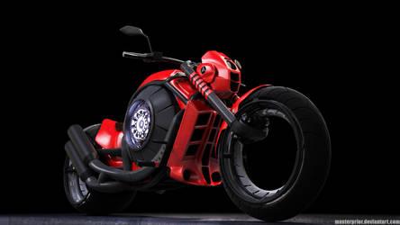 Futuristic Motorcycle - Avalon by MasterPrior