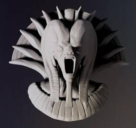 Demon Pharaoh - 1hour speedsculpt by MasterPrior