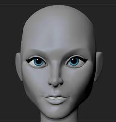 stylised female face study  by MasterPrior