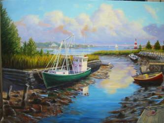 Low Tide, Duxbury, Ma. by Flaven