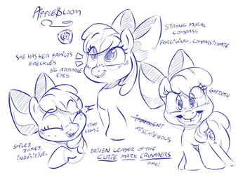 Apple Bloom character sheet by Dilarus