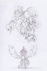 The Mane Six by Dilarus