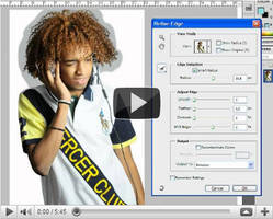how to select crop a hair by OmarAziz