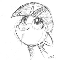 Filly Twilight (pencil) by NoPonyZone