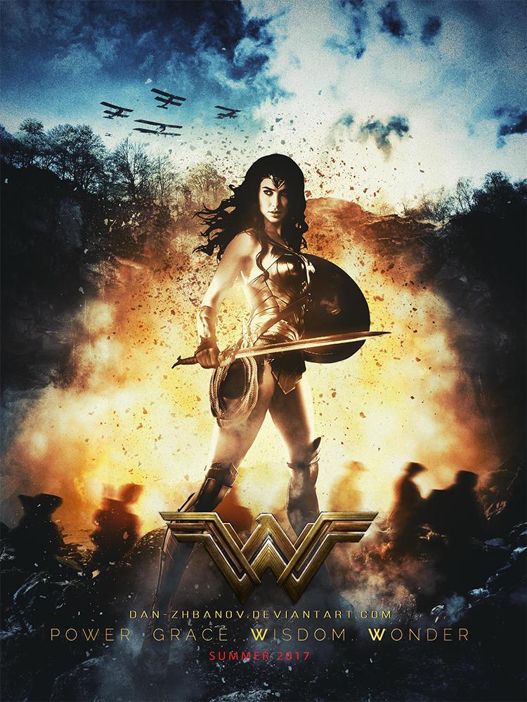 Wonder Woman 2017 Poster By Dan Zhbanov