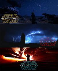 Star Wars The Sequel Trilogy by dan-zhbanov