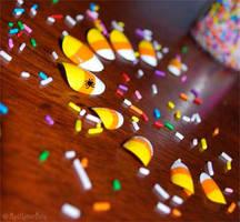 Candy Corn Nails by MadHatterBata