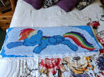 Rainbow Dash And Cutie Mark Crochet Blanket by Confuted