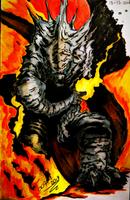 Godzilla by biolMarco