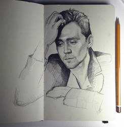 Tom Hiddleston by MaryRiotJane