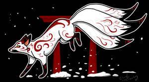 Kitsune by silvercrossfox