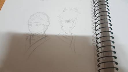 I drew it roughly ninjago by urukiandsirika