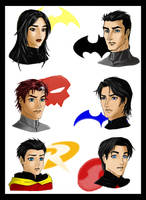 Batfamily - color work by sillue