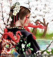 Cherry blossoms by Svera