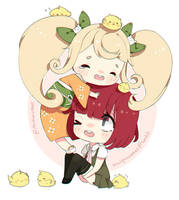 Hiyoko and Mahiru by pankiwicakes