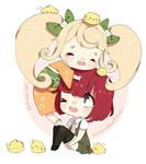 Hiyoko and Mahiru by pankiwicakes