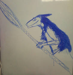 Trying to drawing Sergal by Zorgren