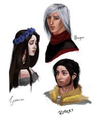 ASOIAF - Lyanna, Rhaegar, Robert by Krissy-Vee