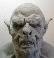 orc mask in clay... by dreamfloatingby