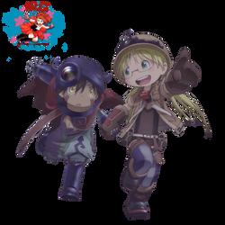 Riko and Regu - Render by aaliez