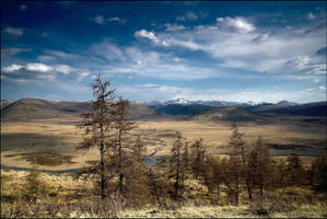 buryat landscape by Kamakaev