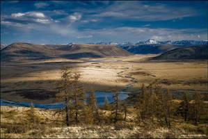 Sayan landscape by Kamakaev
