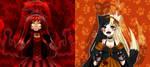 +Open Collab+ Halloween+ Oroka and Nova by Flamelott