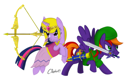 Protectors Of The Triforce by Clashwolf3