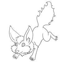 Free Foxster Line Art by Nezumiiro-Kumori
